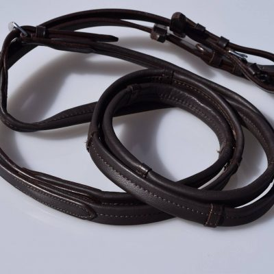 Dark Brown Padded Leather reins